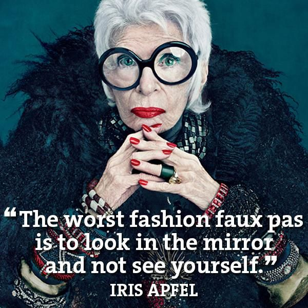 Mandy on Duty Style blog Iris Apfel
